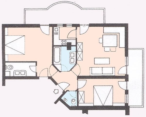 Floor plan from the apartment 4