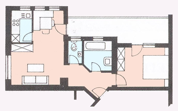 Floor plan from the apartment 5